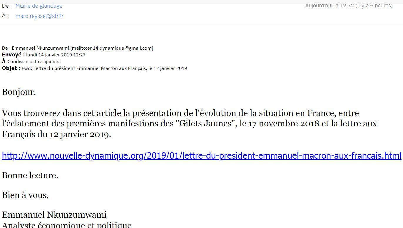 Liens Letre du Président Français