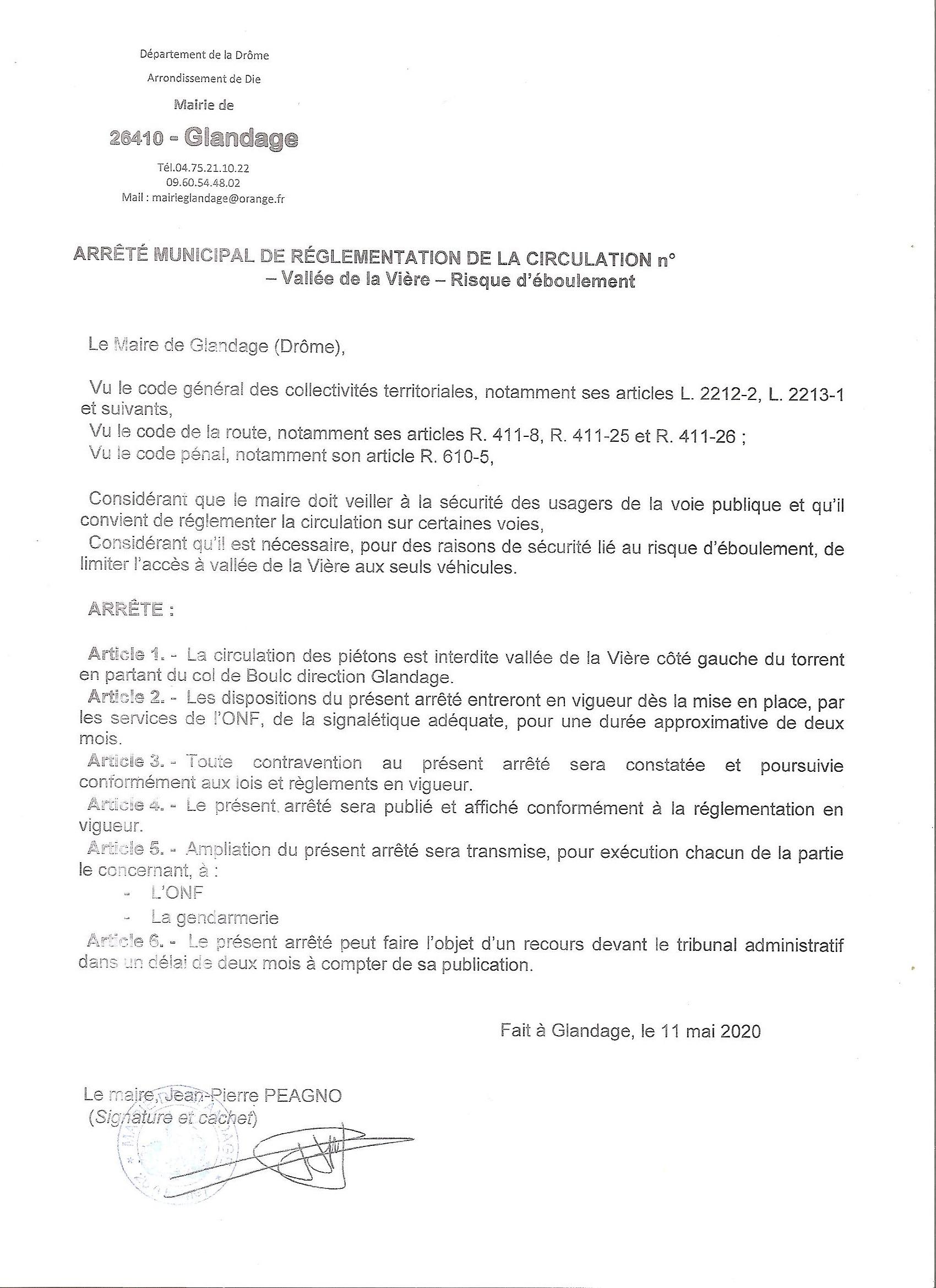 ARRETE MUNICIPAL 11 MAI 2020 001