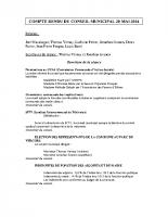 Conseil Municipal du 20 mai 2014