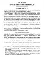 Affiche avis revision LE 2018-2019