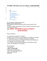 RD 624 Pont De Borne ACCES SECOURS