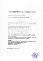 AFFICHE CONSEIL MUNICIPAL DE GLANDAGE 12022021 à 20 heures_02022021